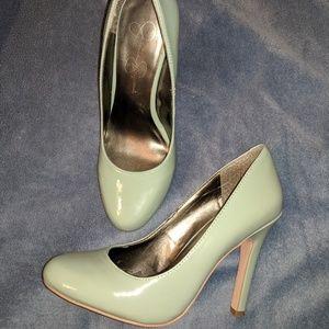 Jessica Simpson mint color heels size 6.5